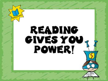 Superhero Themed Reading Posters