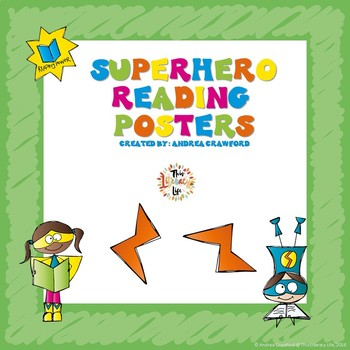 Superhero Themed Reading Posters