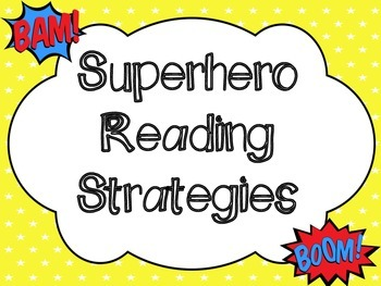 Superhero Themed Reading Strategy Posters