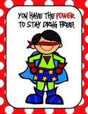 Superhero Themed Red Ribbon Week Posters and Activities