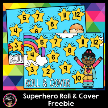 Superhero Roll and Cover Game Freebie