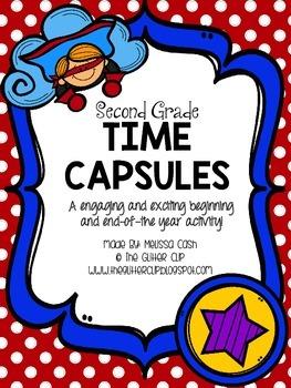 Superhero Themed Second Grade Time Capsule