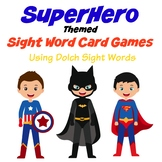 Superhero Themed Sight Word Card Games - Dolch Sight Words