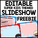 Superhero Themed Slideshow Presentation Editable - just add text