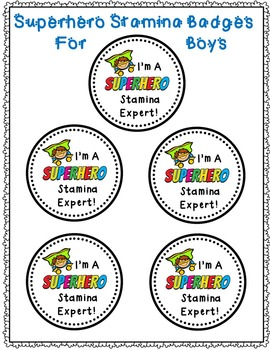 Superhero Themed Stamina Graphs & Badges