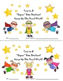 Superhero Themed Star Student Certificates