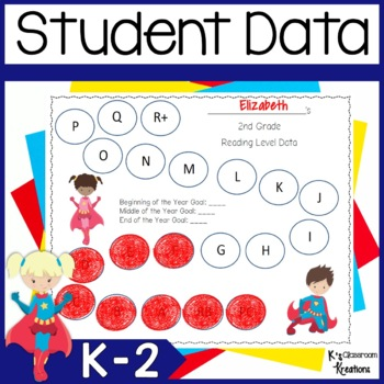Student Data Binders- Superhero Theme