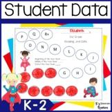 Student Data Binders- Superhero Theme