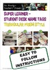 Superhero Themed – Student Desk Name Tags for Grades 1 to 6