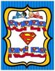 Superheroes Superman Super Rules Sign Print Set