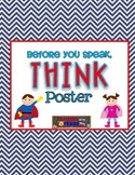 Superhero Themed THINK Poster