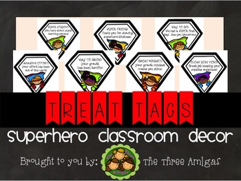 Superhero Themed Treat/Good Job Cards