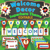 SUPERHERO Themed WELCOME Classroom Decor, for Doors, Walls and Bulletin Boards