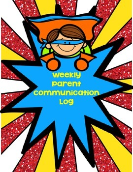 Editable Superhero-Themed Weekly Behavior Communication Calendar