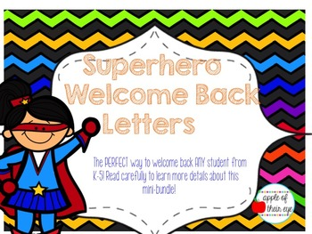 Superhero Themed Welcome Back Letters