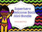Superhero Themed Welcome Back Mini Bundle