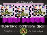 Superhero Themed Welcome Postcards-2nd Grade