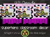 Superhero Themed Welcome Postcards-4th Grade