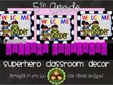 Superhero Themed Welcome Postcards-5th Grade