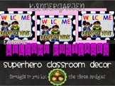Superhero Themed Welcome Postcards-Kindergarten