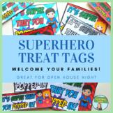 Superhero Themed Welcome Treat Tags