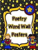 Superhero Themed Word Wall Poetry Posters in English and Spanish