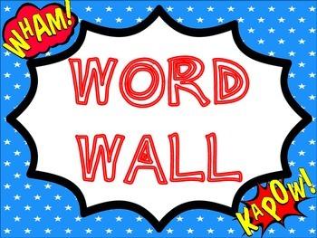 Word Wall Set: Superhero Themed