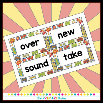 Superhero Themed Word Wall Word Cards - Fry Word Aligned