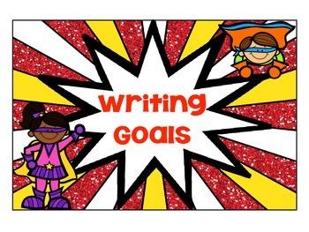 Superhero-Themed Writing Goal Clip-Chart