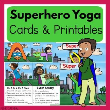 Superhero Themed Yoga Cards