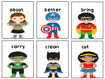 Superhero Third Grade Dolch Sight Words Game
