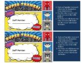 Superhero Tickets for Raffle Baskets