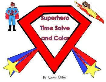 Superhero Time Solve and Color
