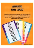 Superhero Multiplication / Times Tables Posters