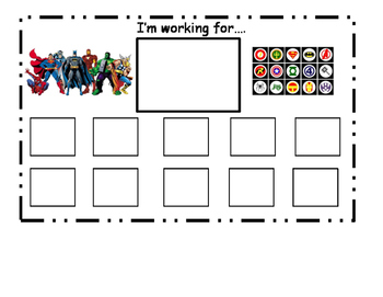 Superhero Token Board
