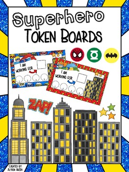 Superhero Token Board