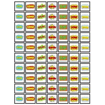 Superhero Token Board Game board Format