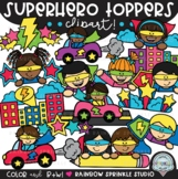 Superhero Toppers Clipart