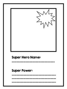 Superhero Trading Card for Action Verbs