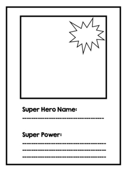 Superhero Trading Card for Action Verbs