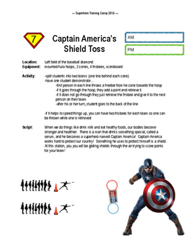 Superhero Training Camp Field Day