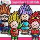 Superhero Troll Kids Clip Art {Crime Fighters, Gnome Graphics for Teachers}