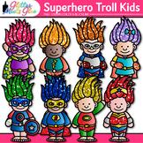 Superhero Troll Kids Clipart: Glitter Gnome Graphics {Glitter Meets Glue}