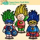 Superhero Troll Kids Clip Art {Crime Fighters, Gnome Graph