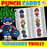 Superhero Trolls Behavior Reward Punch Cards