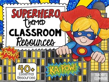 Superhero {Two} Theme Decor Pack
