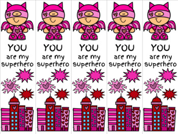 Superhero Valentine 4 bookmark