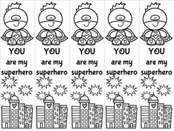 Superhero Valentine 5 bookmark