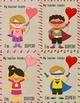 Superhero Valentine's Card From Teacher to Student - Freebie