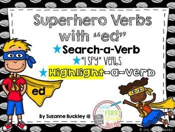 "Superhero Verbs with ""ed"" 3 Activities"